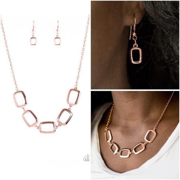Paparazzi Jewelry Rose Gold Necklace Bracelet Set Poshmark